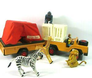 Vintage 1974  Fisher Price  # 304 Animal Safari Set Family, Animals, Truck, Tent