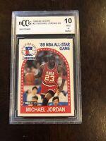 1989-90 Hoops All Star #21 Michael Jordan BCCG 10 BGS PSA