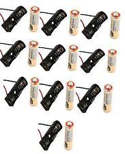 10 Pcs 23A / A23 Battery ( 12V ) with Clip Holder Box Case Black 10 pc