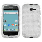 For Huawei Ascend Y H866C Crystal Diamond BLING Hard Case Phone Cover Silver