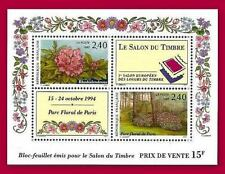 1993 FRANCE BLOC N°15** Bf Luxe RHODODENDRON SALON DU TIMBRE / SHEET