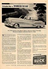 1952 BUICK Roadmaster Convertible 2-Door PRINT AD