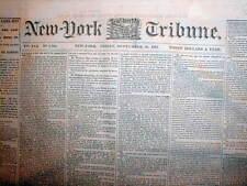 6 1861 Civil War newspapers BATTLE of LEXINGTON Missouri - a CONFEDERATE VICTORY