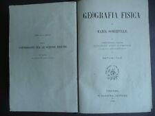 Geografia Fisica Geologia Vegetazione Insetti Pesci Rettili Libri Antichi 1868