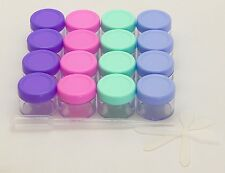16 PACK CLEAR EMPTY CONTAINER FOR COSMETICS, LIP BALM, MEDICINE, MIXING SAMPLE M