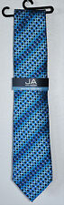 John Ashford Men's Neck Tie Blue & Black EDI GEO FN0010116