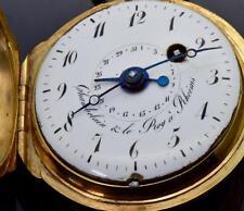 ONE OF A KIND 18k gold MEMENTO MORI SKULL Verge Fusee CALENDAR watch,F.Berthoud