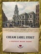 Watneys Cream Label Stout Vintage Tin Beer Sign