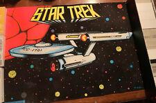 VERY RARE 1976 Star Trek Poster, Flocked / Black Light, By H.M. Stein! **READ**