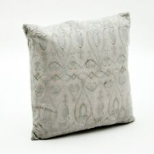White Cushion Embroidered Scatter or Chair With Filler Home Decor 45x45cm