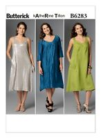 B6283 Butterick 6283 Sewing Pattern kAtheRine Tilton Misses' Loose Dresses EASY