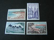FRANCE, SCOTT # 721-724(4), 1955 PICTORIAL ISSUES  MVLH