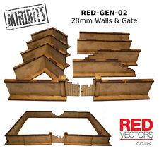 RED-GEN-02 - 28mm Wargames - Walls & Gate