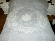 19thC Russian Noble ANNA Princess GOLITSYN PROZOROVSKY Armorial Bed Quilt
