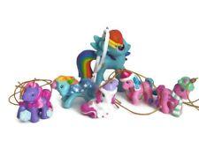 "Hallmark My Little Pony Rainbow Dash 3""  + 5 Kurt Adler Mini Ornaments"