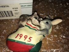 "Charming Tails ""1995"" Christmas Ornament Silvestri Bunny Raccoon"