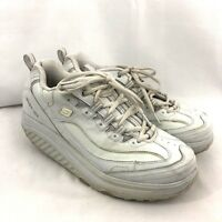 Skechers Shape Ups Womens Shoes Sneakers Size 9.5 White Leather Walking Fitness