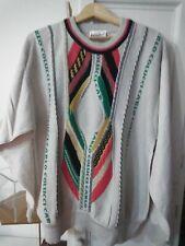 Carlo Colucci Mens Vintage Linen Jumper Bold Pattern