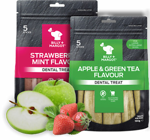 Billy & Margot Apple&Green Tea Dental Chews for Dogs 190g Large/Extra Large Dogs