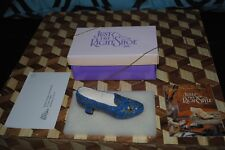 """Just the Right Shoe Blue Empress High Heel #25012 in Box Raine Willitts 4"""" 1998"""