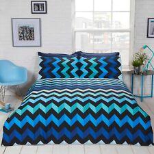 THREE D Colourful Zig-Zag Stripe Reversible Duvet Cover/Quilt Cover Set Bedding