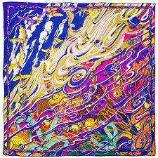 """§ Chale shawl cachemire soie Cashmere Silk Hermès neuf  """" De la Mer au Ciel """" §"""