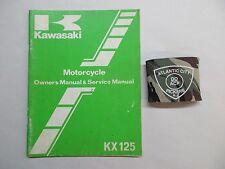 KAWASAKI KX125 MOTORCYCLE OWNERS & SERVICE SHOP REPAIR MANUAL 99920-1289-01