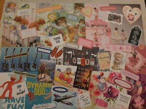 CRAFTROOM CLEAROUT CARD MAKING TOPPERS AND SENTIMENTS NICE MIXED LOT SET J
