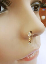 Nose Hoop Gold Plated Indian Nose Ring Nose Piercing Indian Nose Stud Nose Jewel