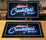 Personalised Neon effect Retro Cocktail Bar runner Pubs & Clubs gift idea