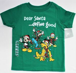"Disney ""Dear Santa...Define Good"" T-Shirt Christmas Holiday Child Top Size 4 XS"