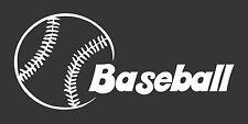Baseball Ball- Die Cut Vinyl Window Decal/Sticker for Car/Truck
