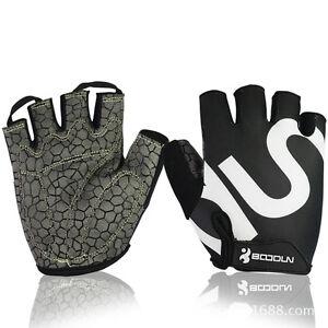 Boodun Half Finger Bicycle Cycling Gloves GEL Crack Sport Bike Glove S-2XL