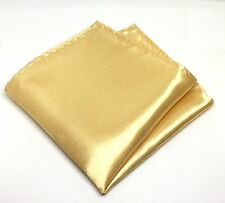 Champagne Gold Pocket Square Handkerchief Formal Wedding Free P&P