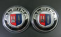 * For Alpina 82+74mm 2 Pin Emblem Badge Bonnet Rear Front Hood Logo Auto *