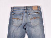 Nudie Skinny Sam Org. Feder Blau Herren Damen Jeans Größe 31/32