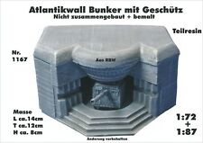 Für Diorama Nr.1167A Atlantikwall Bunker WKII mit Geschütz WKII 1:72