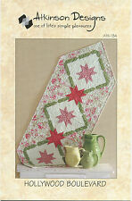 Hollywood Boulevard ~ Table Runner Quilt Pattern ~ by Atkinson Designs ATK-134