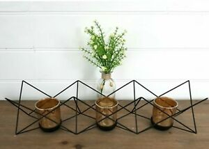 Contemporary Candle Holder Metal Wire Design Black Rose Gold Home Décor 55 cm