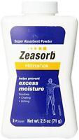 3 Pack Zeasorb Prevention Super Absorbent Powder Foot Care 2.5-Ounce Bottle Each
