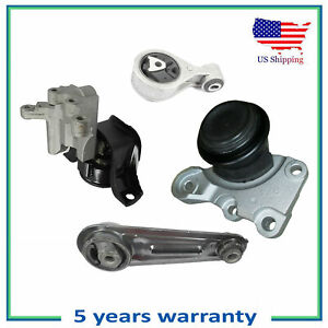 Set 4PCS MotorKing Engine Motor Mount For 2008-2015 Nissan Rogue Select 2.5L FWD