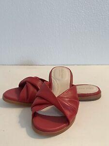 NWOB Cole Haan Red Alyx Slide Sandal 8 1/2 B No Reserve