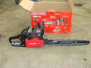 Craftsman CMXGSAMY462S Chainsaw Gas 2-Cycle 46cc chain saw 20 bar box runs great