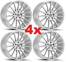 22 Staggered Wheels Rims Brushed Silver