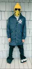 "Akrynm Tall ""Coaches Jacket""  XLT- Navy Blue Ski / Snowboard Hoodie"