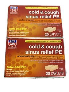 Rite Aid Cold&Cough Sinus Relief PE Non-drowsy 40 Caplets 06/19