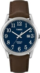 Timex Mens Quartz Watch TW2P75900  Leather strap and Indiglo Night Light