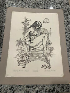 """""""Solitude"""" By Paul Anthony Lee (1982) Drawing 39/95 1st Edition"""