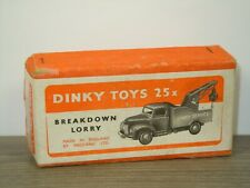 Original Empty Dinky Toys Box - Commer Breakdown Lorry - Number: 25X *46394