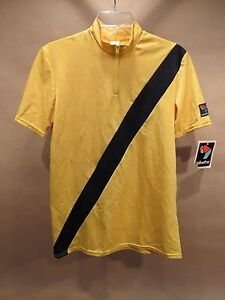 Bellwether Cycling Jersey • Vintage • NOS •T35 • L / XL • Yellow & Black •USA